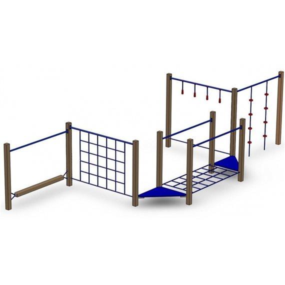 Klatre og balanseløype 1