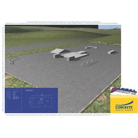 Standard skateanlegg i betong nr 2