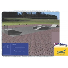 Standard skateanlegg i betong nr 3