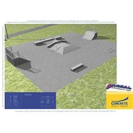 Standard skateanlegg i betong nr 11