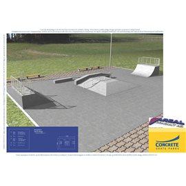 Standard skateanlegg i betong nr 12