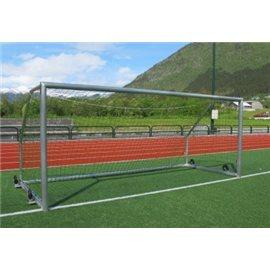 Fotballmål i aluminium, med nett 7,32 x 2,44m