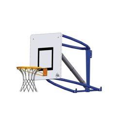 Basketballkurv med elektrisk lift.