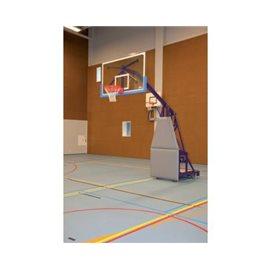 Justerbart frittstående basketballstativ