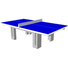 Bordtennisbord i betong