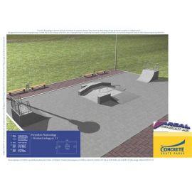 Standard skateanlegg i betong nr 9