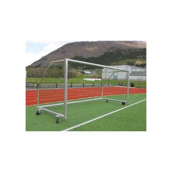 Fotballmål i aluminium, 5,0m x 2,0m med nett