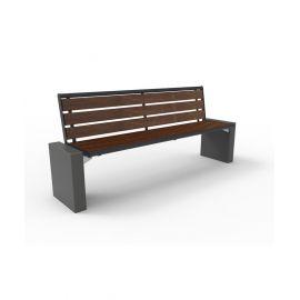 Benk Gloria Style 1800 med vedlikeholdsfriie bord av kunstoff sete og rygg
