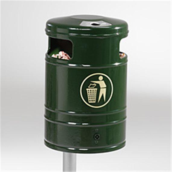 Avfallskurv med askebeger
