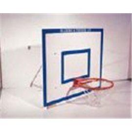 Basketplate med veggfester komplett