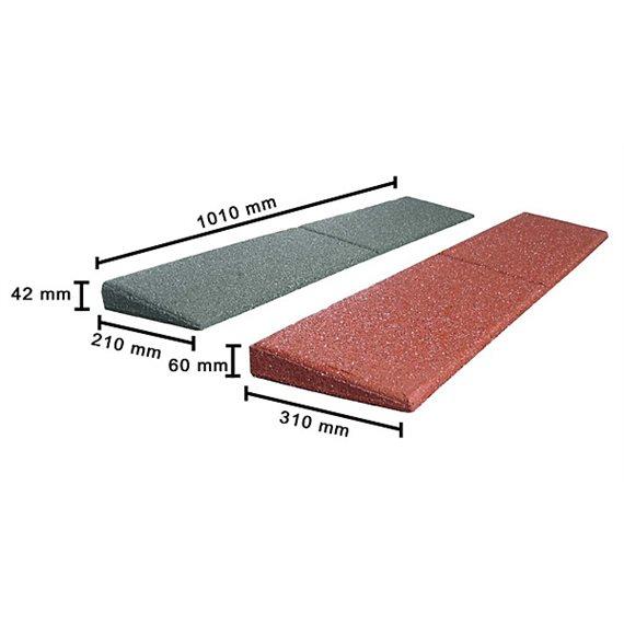 Skråkant til fallmatte 1000 x 200 x 42mm