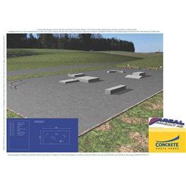 Standard skateanlegg i betong nr 1