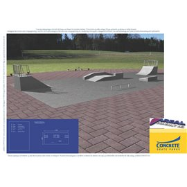 Standard skateanlegg i betong nr 4