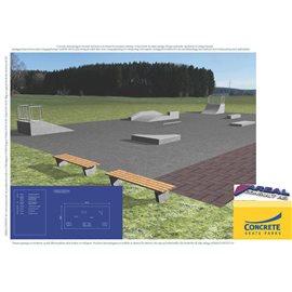 Standard skateanlegg i betong nr 6
