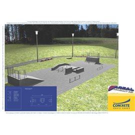 Standard skateanlegg i betong nr 7