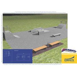 Standard skateanlegg i betong nr 8
