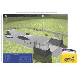 Standard skateanlegg i betong nr 10