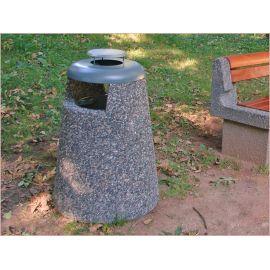 Avfallsbeholder 30 l med askebeger, betong