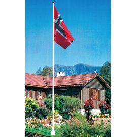 Flaggstang i stål 3 - 16 meter