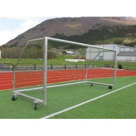 Fotballmål i aluminium, 5,0 x 2,0m med nett